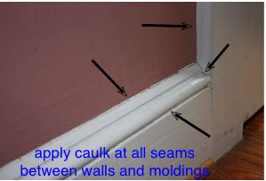 caulking techniques for trim molding