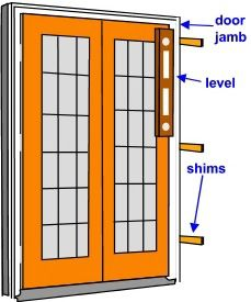 using a level to set a pre-hung door plumb