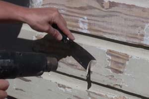 striping paint with heat gun