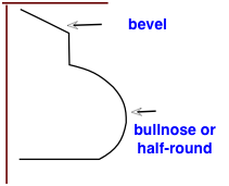 bevel and bullnose profiles